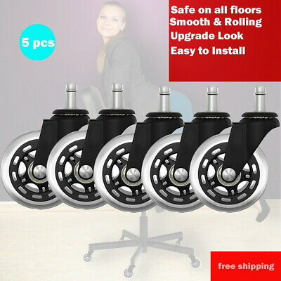 AU38.50 • Buy 5pcs Rollerblade Office Desk Chair Wheels Replacement Rolling Caster Grip Ring M