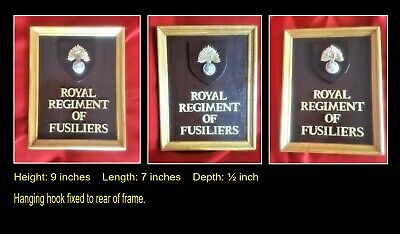 ROYAL REGIMENT Of FUSILIERS Regimental/Corps Framed Plaque  • 15£