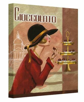 £18.50 • Buy Art Deco Lady Patisserie Cafe Canvas Print Wall Art. Picture Ready To Hang