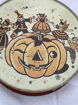 $ CDN31.65 • Buy VINTAGE Antique US METAL HALLOWEEN TAMBOURINE NOISEMAKER--WINKING PUMPKIN RARE