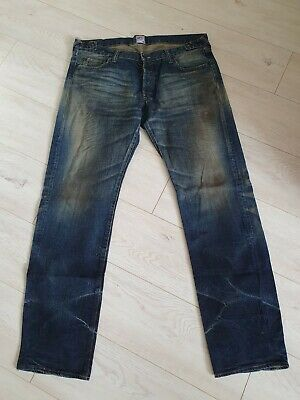 PRPS Pure Mens Cool Stained Distressed Japanese Designers Jeans Size W38 L34  • 75£