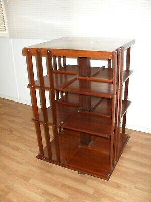 AU1700 • Buy Rare Antique Revolving Bookcase Circa 1900, Restored Condition.