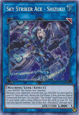 $ CDN13.32 • Buy Sky Striker Ace - Shizuku - MP19-EN258 - Prismatic Secret Rare - 1st Edition X1