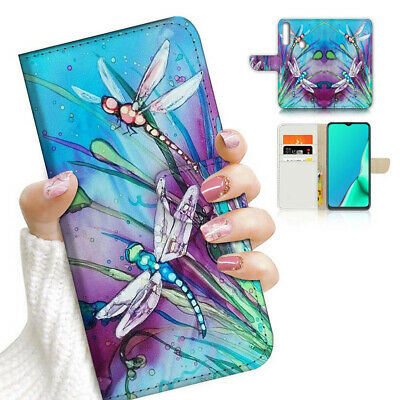 AU12.99 • Buy ( For Vivo Y12 / Y15 / Y17 ) Wallet Case Cover AJ23424 Blue Dragonfly