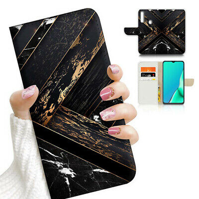AU12.99 • Buy ( For Vivo Y12 / Y15 / Y17 ) Wallet Case Cover AJ23644 Black  Marble