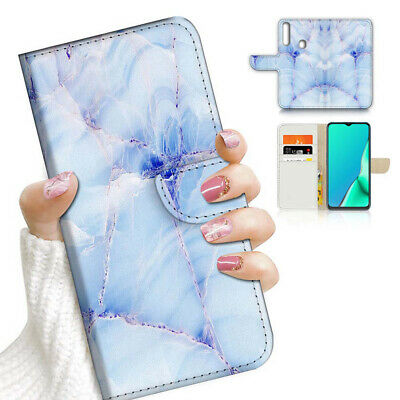 AU12.99 • Buy ( For Vivo Y12 / Y15 / Y17 ) Wallet Case Cover AJ23666 Blue Marble