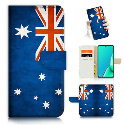 AU12.99 • Buy ( For Vivo Y12 / Y15 / Y17 ) Wallet Case Cover AJ23826 Australia Flag
