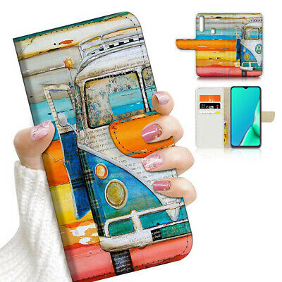 AU12.99 • Buy ( For Vivo Y12 / Y15 / Y17 ) Wallet Case Cover AJ23840 Kombi Van