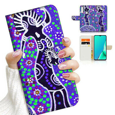AU12.99 • Buy ( For Vivo Y12 / Y15 / Y17 ) Wallet Case Cover AJ23966 Aboriginal Art