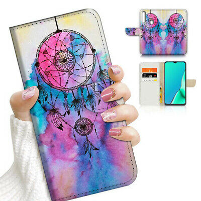 AU12.99 • Buy ( For Vivo Y12 / Y15 / Y17 ) Wallet Case Cover AJ24004 Dream Catcher