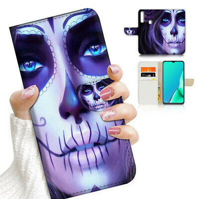 AU12.99 • Buy ( For Vivo Y12 / Y15 / Y17 ) Wallet Case Cover AJ24024 Sugar Skull