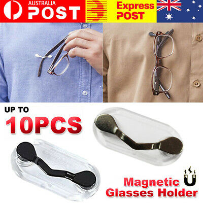 AU6.69 • Buy 6/8/10x Magnetic Glasses Holder Spectacle Eyeglass Sunglasses Brooch Chain Cor