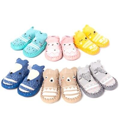 Infant Baby Girl Boy Toddler Anti-slip Warm Slippers Socks Cotton Crib • 4.24£