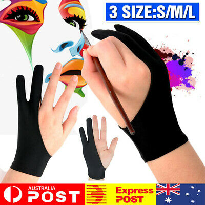AU11.06 • Buy Professional S/M/L Size Graphic Tablet Artist Sketch Drawing Two Finger Gloves