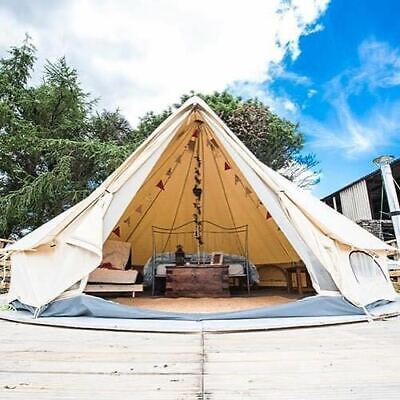 Glamping Bell Tent 4M Waterproof Cotton Canvas Yurts Tent 4-Season Outdoors Tent • 419.99£
