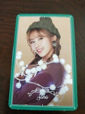 Twice Sana Merry And Happy Green Photocard Kpop • 4£