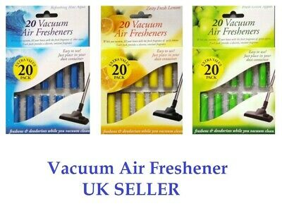 21pc X Vacuum Air Fresheners Hoover Dust Bags Filters Cleaner Freshner Fragrance • 2.95£