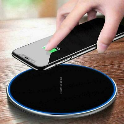 $ CDN6.56 • Buy 15W Qi Wireless Charger Charging Dock Pad Mat For Samsung IPhone S10 XS X
