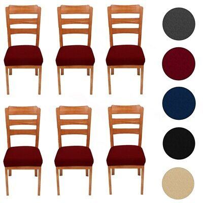 £4.27 • Buy 6 Packs Dining Chair Seat Covers Waterproof Stretch Slipcovers Elastic Removable