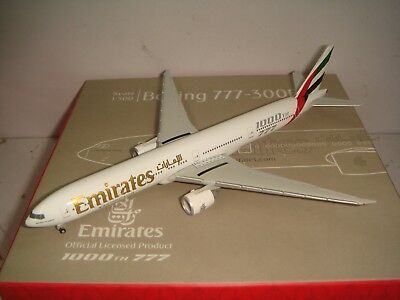 $99.99 • Buy Herpa Wings 500 Emirates EK B777-300ER  2000s Color - 1000th 777  1:500 NG