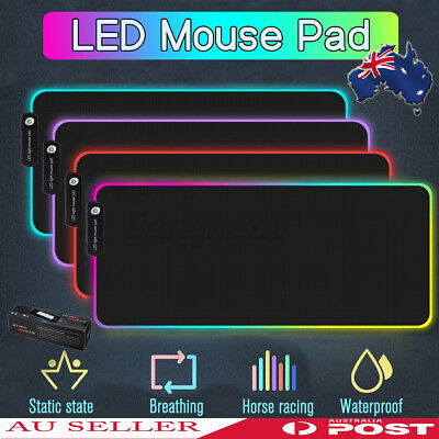 AU22.39 • Buy 900MM LED RGB Gaming Mouse Pad Desk Mat Extended Anti-slip Rubber Speed Mousepad