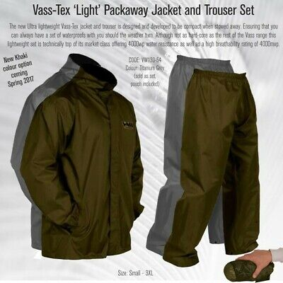 Vass-Tex 'Light' Packaway Jacket And Trouser Set ( Titanium Grey ) • 44.99£