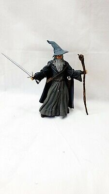 Lord Of The Rings Action Figure Super Poseable Gandalf The Gray Toybiz  • 25£