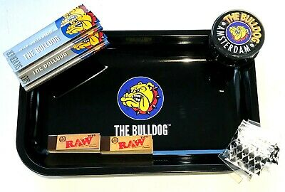 Bulldog Rolling Tray Official Smoking Accessories Tray Set Gift • 12.95£