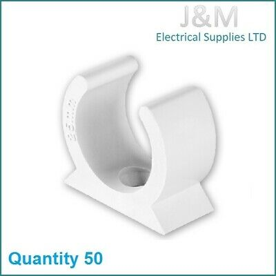 £10.99 • Buy 20mm White PVC Conduit Saddle Clip Bracket Electric Cable Wall Fitting Plastic
