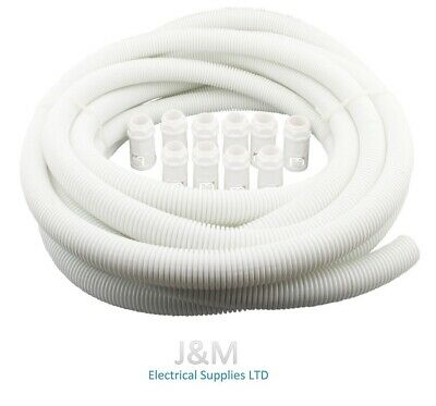 20mm Flexible Spiral Conduit 10M Tube Cable Tidy Trunking Underground Pack PVC • 11.99£