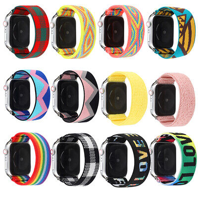 AU14.99 • Buy Apple Watch Band IWatch Series SE 6 5 4 3 2 1 44mm 42mm 40mm 38mm  Elastic Strap