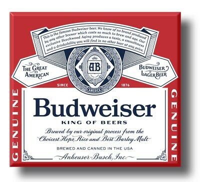 £3.50 • Buy Budweiser Beer Alcohol Plaque Sign Retro Style Bar Kitchen Shed Garage Man Cave