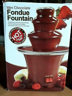 BNIB Stainless Steel Electric Table Top Mini Chocolate Fountain  • 14.95£