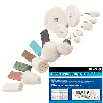 £22.99 • Buy BlueSpot 18pc Metal Cleaning Polishing Buffing Wheel And Compound Kit For Drill