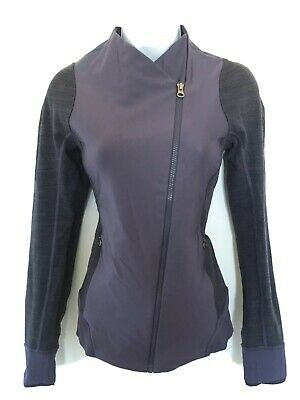 $ CDN80 • Buy Free Shipping Lululemon Emerge Renewed Jacket Sz 6 EUC Nightfall Purple Moro