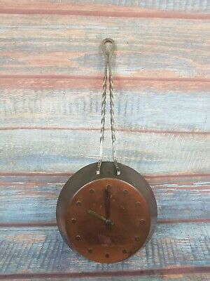 Vintage Copper Frying Pan Windup Clock 42cm Long Good Working Order • 22.50£