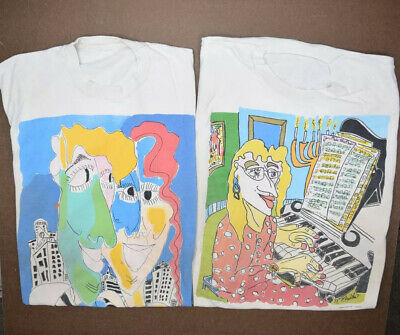 $ CDN88.32 • Buy Vintage Abstract Art Graphic T Shirt Lot Of 2 Size M Single Stitch Myles Maillie
