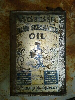 $ CDN65.90 • Buy RARE Hand  Operated Cream Separator Oil 1/2 Gallon Can - Standard Oil CO.indiana