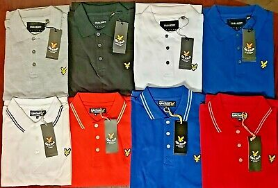 Lyle & Scott Mens Short Sleeve Polo - Regular Fit  Shirt All Colour And All Size • 15.99£