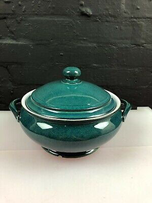Denby Greenwich Lidded / Covered Vegetable Casserole Dish Chip On Base • 21.99£