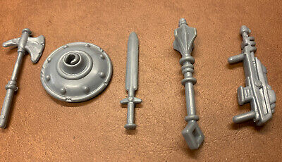 $14 • Buy MOTU, Gray Weapons, Masters Of The Universe, Accessories, He-Man, Sword, Shield