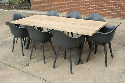 AU1699 • Buy Wharf 3 - Outdoor Setting - 2200mm Solid Acacia Timber Table - 7 Or 9 Pieces