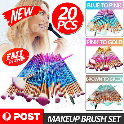 AU8.95 • Buy 20PCS Eye Make-up Brushes Diamond Unicorn Eyeshadow Eyebrow Blending Brush Set