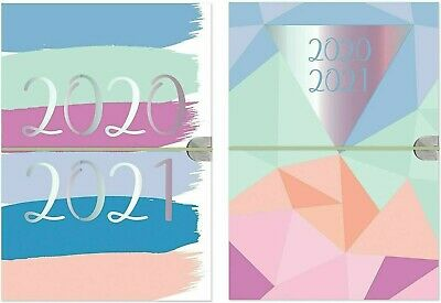 2020-2021 Flexi-Cover With Elastic A5 Academic Diary Week To View Student Diary • 2.99£