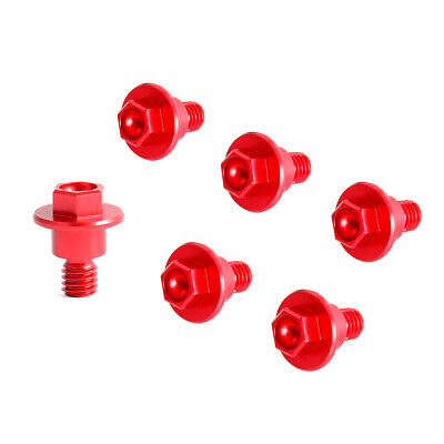 $6.99 • Buy CNC Red Front Fork Cover Guard Bolts For Honda CRF250R CRF250X 2004-2021 CRF450R