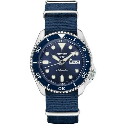 $ CDN221.22 • Buy New Seiko 5 Automatic Blue Dial Nylon Strap Men's Watch SRPD87