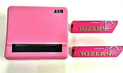 Automatic Rolling Machine Tobacco Case Tin Roller PINK 2 RIZLA Pink Booklets • 5.99£