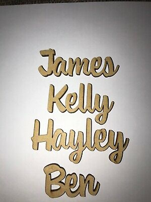 £0.99 • Buy Wooden Place Names Wedding Hen Dinner Party Favour Personalised  2 For 1 BOGOF