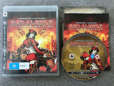 AU22 • Buy PS3 Playstation Game - COMMAND & CONQUER RED ALERT 3 ULTIMATE EDITION - Complete