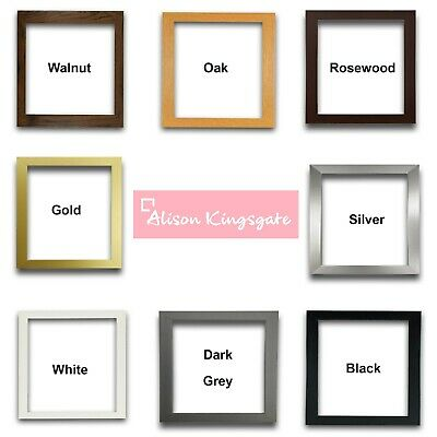 £3 • Buy Square Sizes Picture Frames Black White Photo Poster Frame Grey Gold Silver Oak